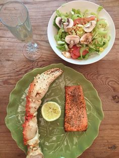 Massive King Crab legs and Sweet Red Trout on the grill tonight! This is a duel of the moist and most flavorful!!! The lemon in the middle will judge!!!
