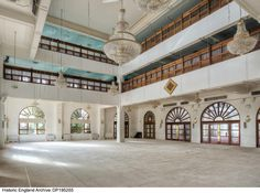 The prayer hall at the Northolt Bohra Mosque (Masjid-ul-Husseini), Rowdell Road, Northolt, Greater London. Photographer: James O Davies. 2 Storey House Design, London Photographer, Greater London, Mosques, Prayer, British, Calligraphy, Mansions, Logo