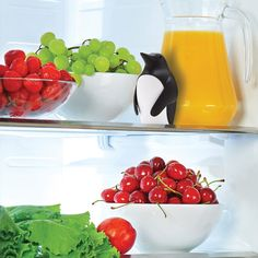 Smile when you open your fridge with this award winning fridge deodorizer. Fill the penguin with baking soda and place in your refrigerator to absorb unwanted smells. Replace the baking soda when you feel it is no longer effective, and keep cool!