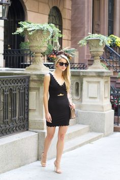 The Monogrammed Life Fashion Friday: Black Scallop Dress