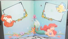 Little Mermaid scrapbook pages....Custom Crafter's Creations >^._.^< By Jenny