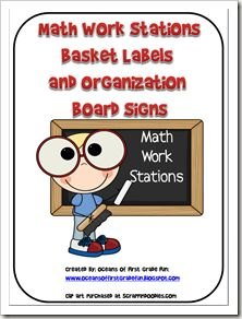 Math Workstation Labels