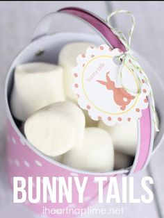 Bunny tails a.k.a marshmallows! Such a cute and easy gift idea!