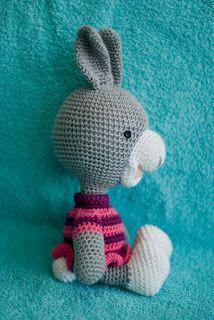 haakhooked: Gratis haakpatroon konijntje Karin