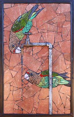 Head to the webpage to read more on iron wall art. Check the webpage to get more information This is must see web content. Mosaic Artwork, Mosaic Wall, Mosaic Glass, Glass Art, Stained Glass, Fused Glass, Mosaic Animals, Mosaic Birds, Mosaic Crafts