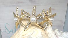 STARFISH BRACELET GOLD by beaqueenbee on Etsy