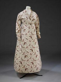 Cotton Dress, circa 1795-1799
