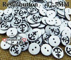 200PCS anchor buttons resin for sewing  button bulk craft  pearl R-058 $3,73