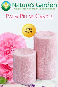 Free Palm Pillar Candle Recipe by Natures Garden