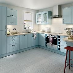 Great deals on Kitchens ✓ No deposit required ✓ Price match guarantee ✓ Homebase. Feels good to be home. Blue Kitchen Cabinets, Kitchen Units, New Kitchen, Kitchen Interior, Kitchen Decor, Kitchen Design, Kitchen Ideas, Beach House Kitchens, Home Kitchens