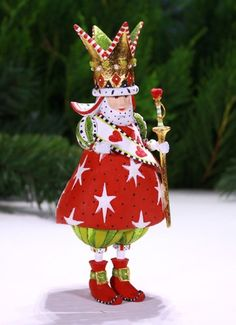Patience Brewster Krinkles King of Hearts Ornament 2014