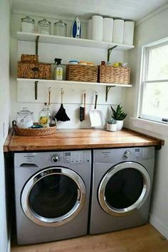 50 Adorable Farmhouse Laundry Room Ideas Storage Shelves Ideas Laundry room decor Small laundry room organization Laundry closet ideas Laundry room storage Stackable washer dryer laundry room Small laundry room makeover A Budget Sink Load Clothes Room Makeover, Laundry Room Diy, Interior, Home, Room Shelves, Kitchen Remodel, Home Remodeling, New Homes, Room Remodeling