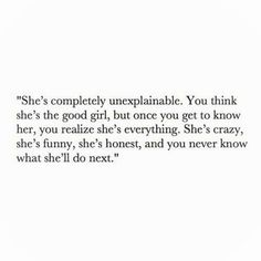 I hope someone will think this about me