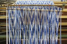 The Mallorcan centuries old tradition of making the roba de llengues fabric is a version of ikat.  Double click the picture to go to binichic.com and see the full article with several pictures.