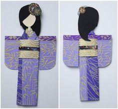 Muñeca japonesa de papel