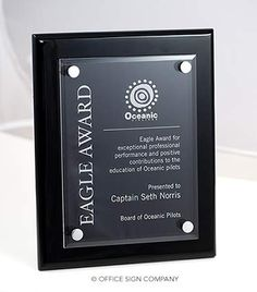Employee Recognition Plaques | Stylish Recognition Award Plaques