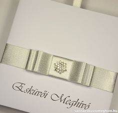 e654ed2bc5 Hófehér csokor 2 esküvői meghívó, meghívó, fehér esküvői meghívó, ezüst esküvői  meghívó,