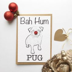 pug christmas cardpugs at christmasfunny christmas cardfunny dog card - Funny Dog Christmas Cards