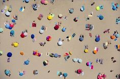 Pampelonne Beach, St.Tropez. Gray Malin photographs beaches from above which he shoots from a doorless helicopter.