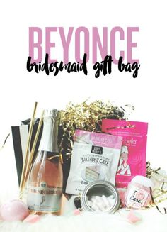 Bridesmaid box, gift bag, proposal, Beyoncé theme