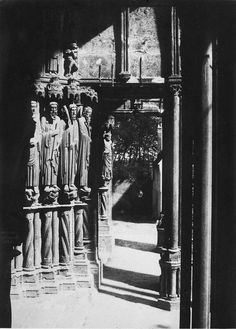 Charles Marville - South Portal, Chartres Cathedral, 1854