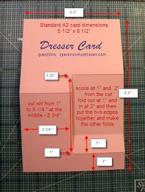 Dresser card template or side step card Card Making Templates, Card Making Tips, Card Making Tutorials, Card Making Techniques, Fun Fold Cards, Folded Cards, Side Step Card, Stampin Up Anleitung, Stepper Cards