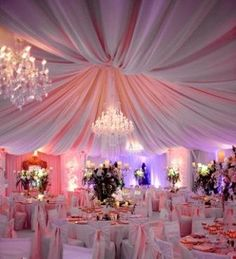 Pink Pipe & Drape & Swags