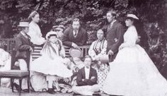 The children of Queen Victoria and Prince Albert. 1865. Albert Edward, Victoria, Alice, Alfred, Helena, Louise, Arthur, Leopold and Beatrice.