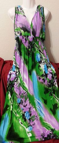 another COLORFUL MAXI SUN DRESS