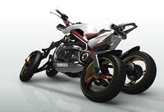 Read more: http://www.way2speed.com/2012/01/10-most-amazing-concept-bikes.html#ixzz2pjIjhe3d  Credit our work when you share  Under Creative Commons License: Attribution Share Alike  Follow us: @melwindaniel on Twitter | way2speed on Facebook  Yamaha Tesseract The Yamaha Tesseract Concept Bike was unveiled at the Yamaha 2008 Tokyo Auto Show .