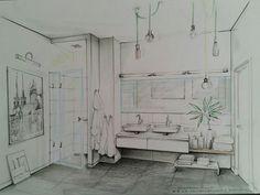 Bathroom illustration (by Magdalena Sobula, Pe2)