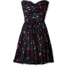 Halston Heritage Confetti Print Bustier Party Dress ($232) ❤ liked on Polyvore