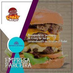 A Crazy for Burger também faz parte da nossa Rede de Parceiros! . http://ift.tt/1UOAUiP . Entre em contato consco e conheça nossos serviços e vantagens: (19) 3329-7741 / 9.7407-2216 ou contato@revistadavila.com.br