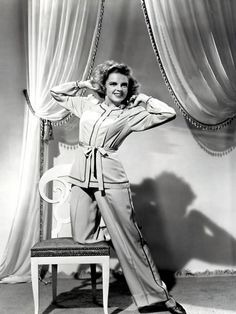 presenting lily mars photos | Judy modeling pajamas for Presenting Lily Mars (1943). | Judy Garland