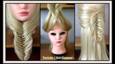 UNDER THE CHIN FLIP BACK  BRAID / FISHTAIL Hairstyle / Hair Tutorial / H...