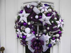 tischgesteck advent weihnachtsgesteck adventskranz lila weiss tilda advent and ebay. Black Bedroom Furniture Sets. Home Design Ideas