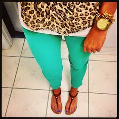 Cheetah and turquoise