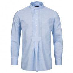 Trachtenhemd Regular Fit mit Riegel in Blau von Hammerschmid Fit, Tops, Women, Fashion, Dirndl, Chic, Cotton, Blue, Leather