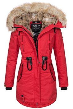 a9a78b6cb598 Navahoo warme Damen Winter Jacke lang Kunstfell Winterjacke Parka Mantel  B660  B660-Bomb-