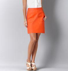 Textural Pocket Mini Skirt | Loft