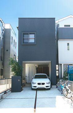 実例集|ヘッジハウスの注文住宅 木造のガレージハウスが可能な超耐震住宅木造ヘッジ構法の家|名古屋
