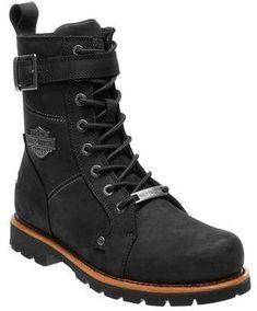 Men's Harley-Davidson Wickson Motorcycle Boot - Black Full Grain Leather Boots #ad #harleydavidsonmotorcycles