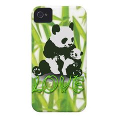 Panda Bear Love for her Baby iPhone 4 Case-Mate Cases