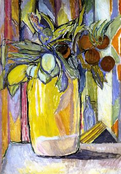 peinture UK : Vanessa Bell, bouquet de fleurs, groupe Bloomsbury, femme artiste