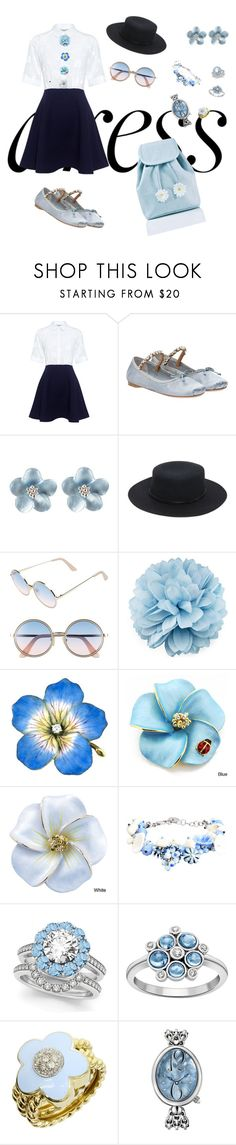 """Dreamy Dress"" by tanz-mim ❤ liked on Polyvore featuring Paul & Joe Sister, Miu Miu, Sole Society, Sunday Somewhere, Gucci, La Hormiga, Allurez, London Road, Pasquale Bruni and Breguet"