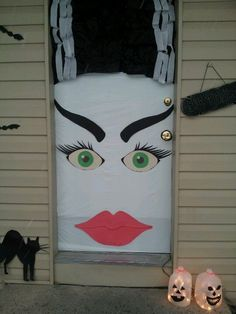 halloween office decorations. bride of frankenstein door decorations for halloween this year yeah my roommates and i rock office
