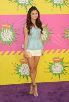 Selena Gomez in Oscar de la Renta at the Kids' Choice Awards