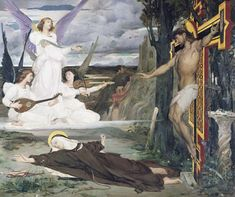 The Vision, Legend of the 14th Century - Luc-Olivier Merson