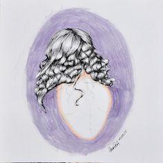 watercollor art by Ana Porto Alegre #hair #girl #illustration #curly