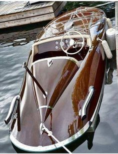 Just Beautiful ! Mercedes convertible of the water